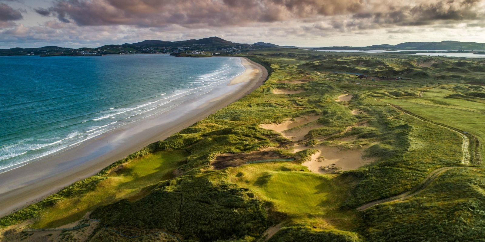 Drone image of St. Patrick's Links, Co. Donegal