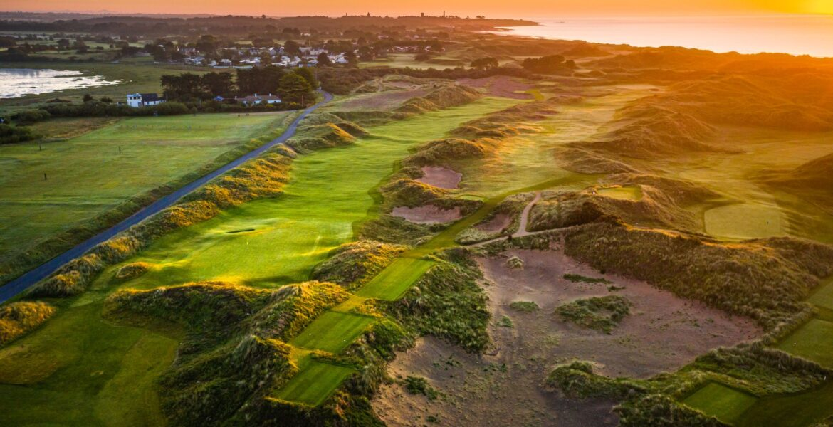 The Island Golf Club Drone Image of the 8th and 9th holes