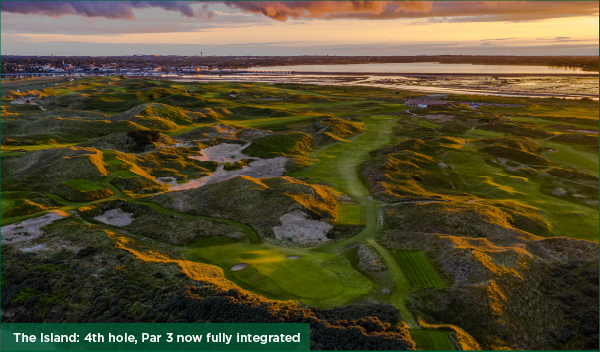 The Island: 4th hole, Par 3 now fully integrated