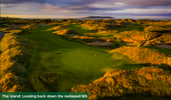 The Island: Looking back down the reshaped 9th