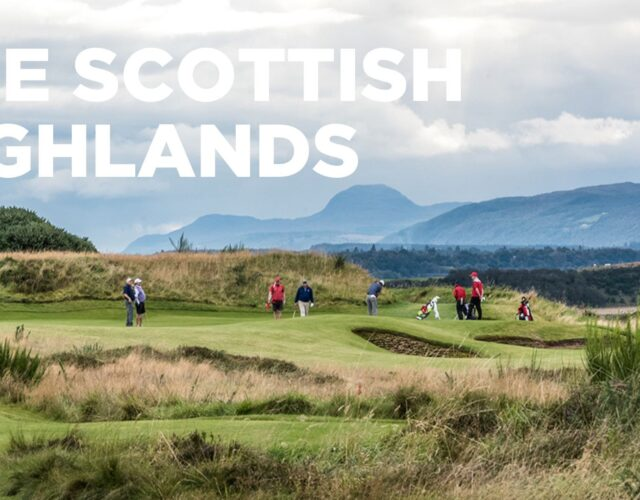 The Scottish Highlands - Golfers playing golf in soctland
